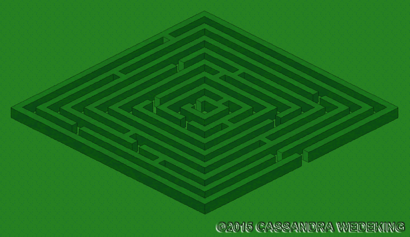 isometric view of a labyrinth