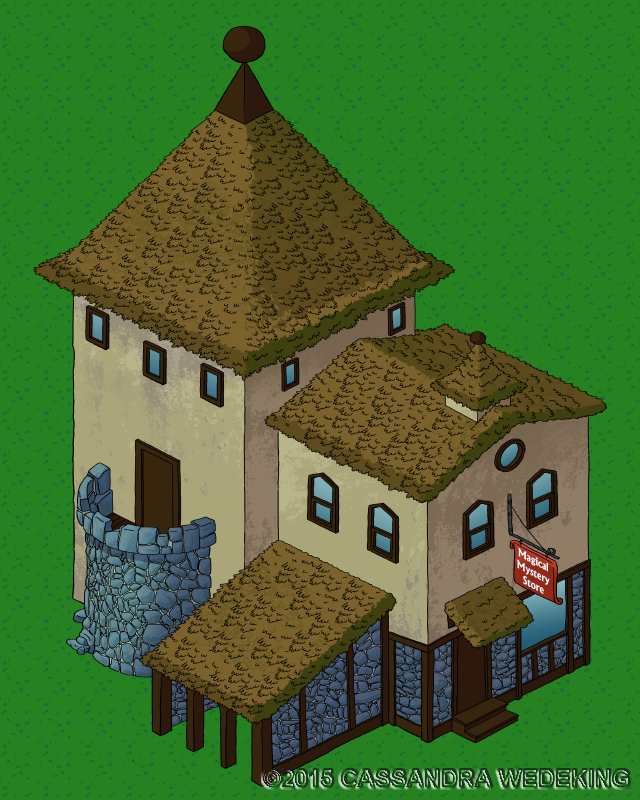isometric view of a magic store