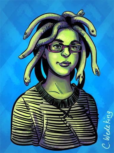 Bust of the artist as Medusa