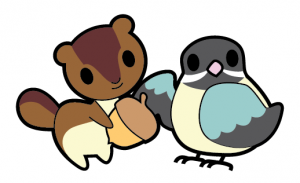Chipmunk and Chickadee